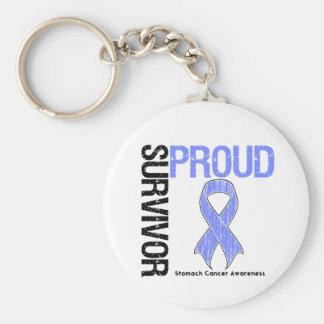 Superviviente orgulloso - cáncer de estómago llaveros personalizados