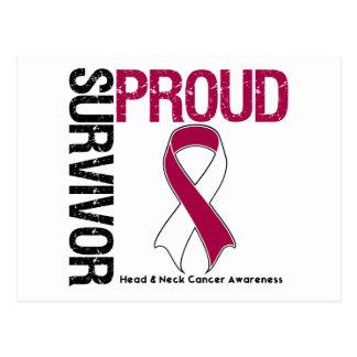 Superviviente orgulloso - cáncer de la cabeza y tarjeta postal