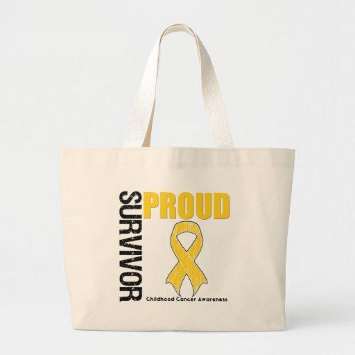 Superviviente orgulloso - cáncer de la niñez bolsa de mano