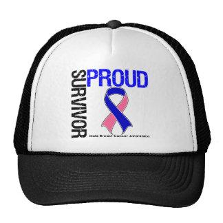 Superviviente orgulloso - cáncer de pecho masculin gorro de camionero