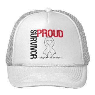 Superviviente orgulloso - cáncer de pulmón gorro de camionero