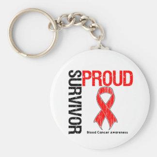 Superviviente orgulloso - cáncer de sangre llavero redondo tipo pin