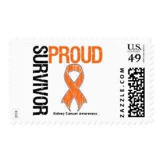 Superviviente orgulloso - cáncer del riñón sellos postales