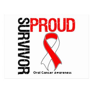 Superviviente orgulloso - cáncer oral postales