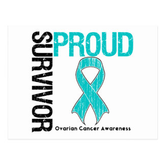 Superviviente orgulloso - cáncer ovárico tarjeta postal
