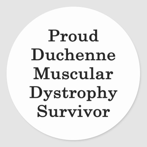 Superviviente orgulloso de la distrofia muscular pegatina redonda