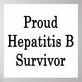Superviviente orgulloso de la hepatitis B Poster
