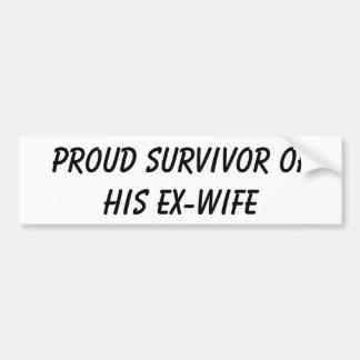 Superviviente orgulloso de su pegatina para el par pegatina para auto