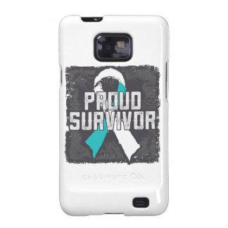 Superviviente orgulloso del cáncer de cuello del galaxy s2 funda