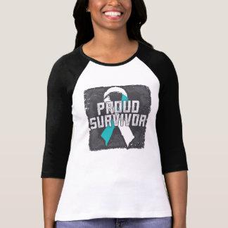 Superviviente orgulloso del cáncer de cuello del playera