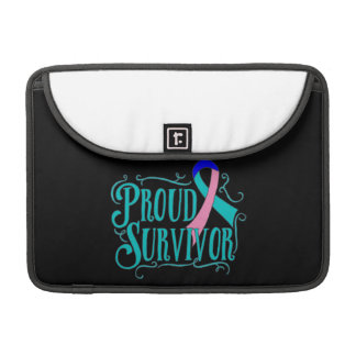 Superviviente orgulloso del cáncer de tiroides fundas para macbooks