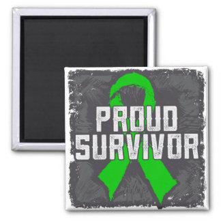 Superviviente orgulloso del cáncer hepático iman de frigorífico