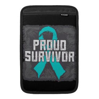 Superviviente orgulloso del cáncer peritoneal fundas para macbook air