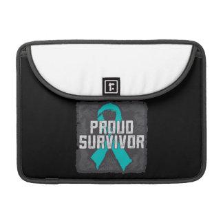Superviviente orgulloso del cáncer peritoneal funda para macbooks