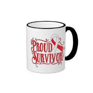 Superviviente orgulloso del carcinoma de células taza a dos colores