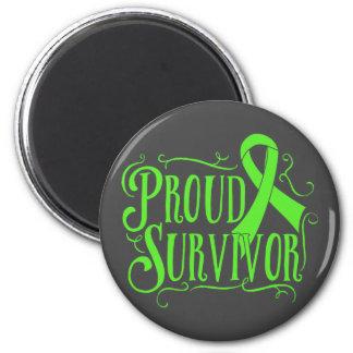 Superviviente orgulloso del linfoma de imán para frigorifico