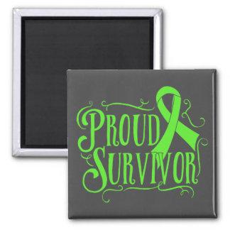 Superviviente orgulloso del linfoma de imanes de nevera