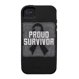 Superviviente orgulloso del melanoma iPhone 4 funda