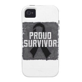Superviviente orgulloso del melanoma vibe iPhone 4 fundas