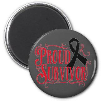 Superviviente orgulloso del melanoma iman de nevera