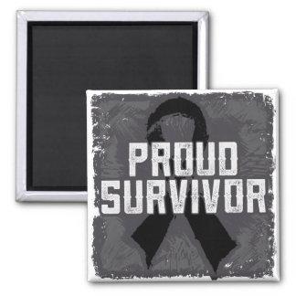 Superviviente orgulloso del melanoma imanes
