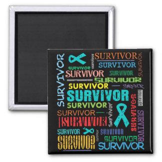 Superviviente peritoneal Collage.png del cáncer Imanes