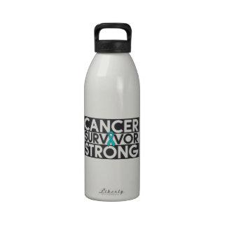 Superviviente peritoneal del cáncer fuerte botella de agua