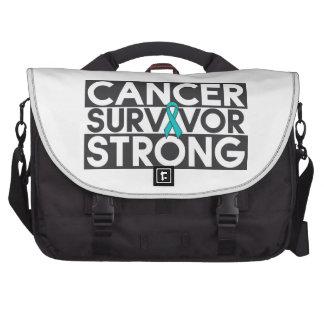 Superviviente peritoneal del cáncer fuerte bolsas para portátil