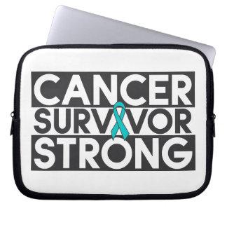 Superviviente peritoneal del cáncer fuerte mangas computadora