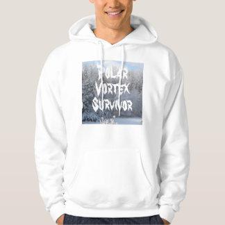 Superviviente polar del vórtice jersey con capucha