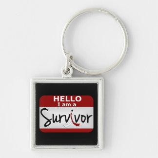 Superviviente principal 24 png del cáncer del cuel llavero