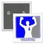 Superviviente que gana del cáncer de colon pins