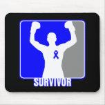 Superviviente que gana del cáncer de colon alfombrillas de ratones