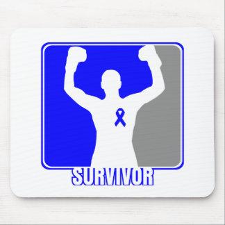 Superviviente que gana del cáncer de colon tapete de raton
