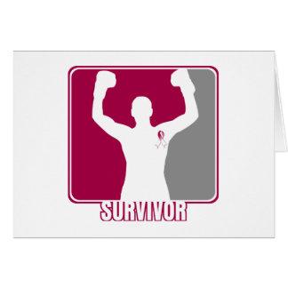 Superviviente que gana del cáncer de garganta tarjeta de felicitación