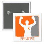 Superviviente que gana del cáncer de la leucemia pins