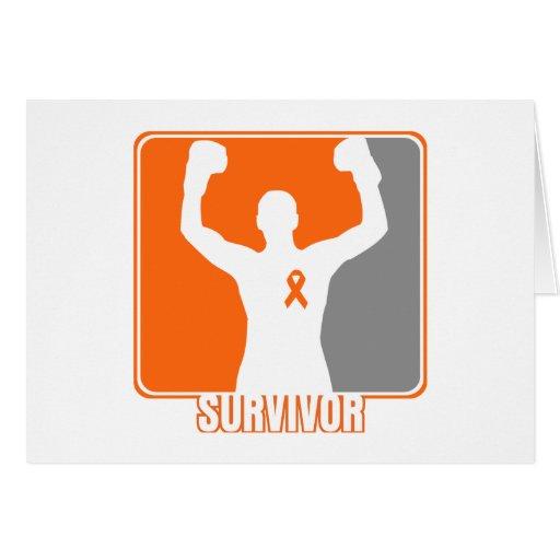 Superviviente que gana del cáncer de la leucemia tarjetón