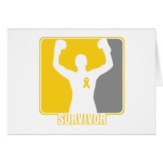 Superviviente que gana del cáncer de la niñez tarjeta de felicitación