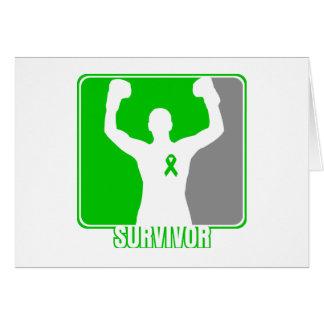 Superviviente que gana del cáncer del riñón felicitaciones