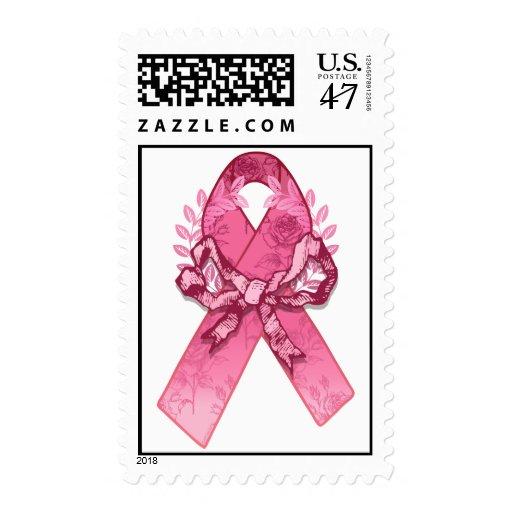 Superviviente rosado de la cinta timbre postal