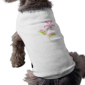 Superviviente rosado de la conciencia del cáncer d playera sin mangas para perro