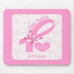 Superviviente rosado del cáncer de pecho de la cin alfombrilla de raton