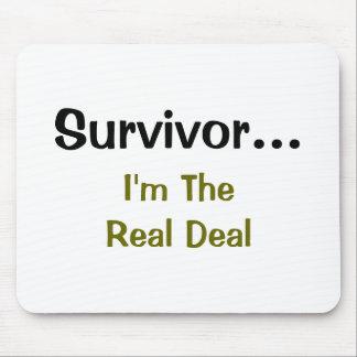 Superviviente… soy el cojín de ratón real del trat alfombrilla de ratones