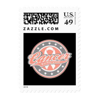 Superviviente uterino del cáncer del logotipo sellos
