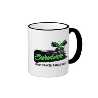 Superviviente verde del cáncer del riñón de la m taza de café