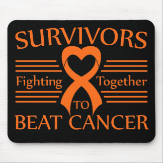 Supervivientes del cáncer del riñón que luchan jun tapetes de ratón