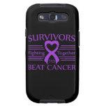 Supervivientes del cáncer pancreático que luchan j galaxy SIII cobertura