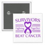 Supervivientes del cáncer pancreático que luchan j pin