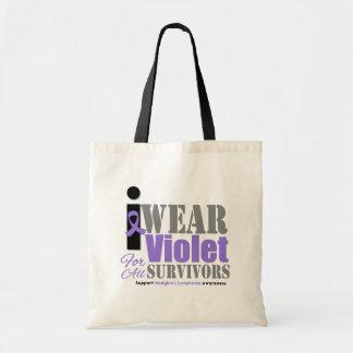Supervivientes violetas de la cinta - el linfoma d bolsa de mano