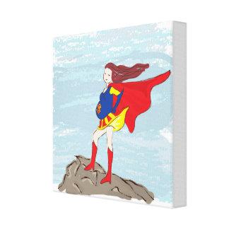 superwoman del héroe de la impresión de la lona impresiones en lona